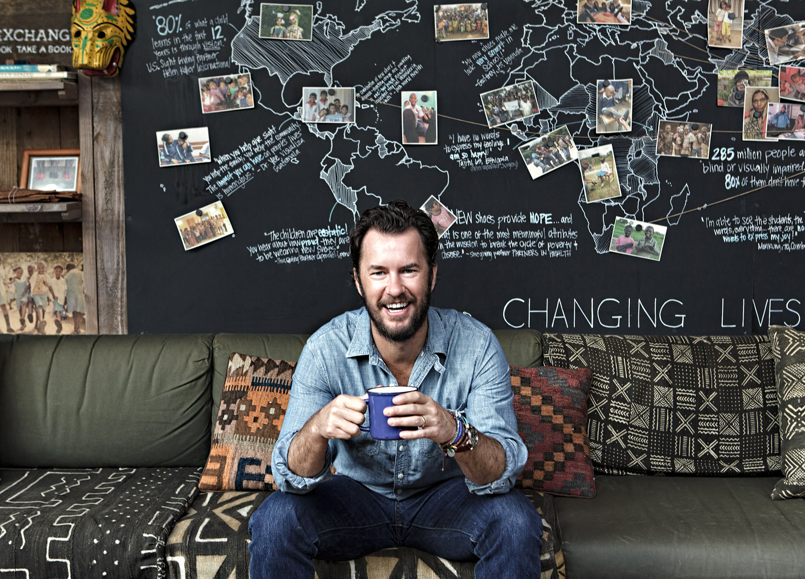 Blake Mycoskie by Scott Witter for Footwear News